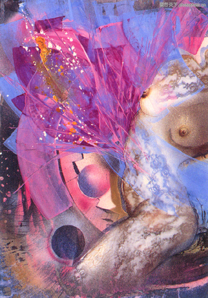梦幻画,墙饰画,梦幻画0043