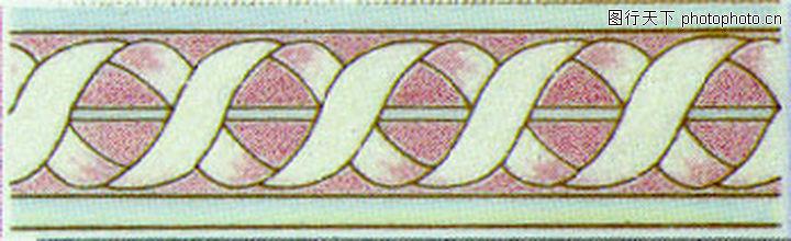 彩陶线,花边角线,彩陶线0150