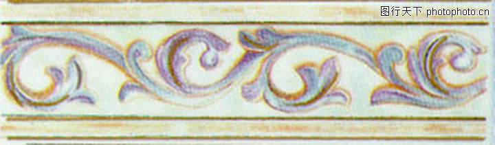 彩陶线,花边角线,彩陶线0154