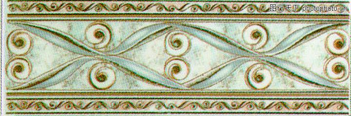 彩陶线,花边角线,彩陶线0156