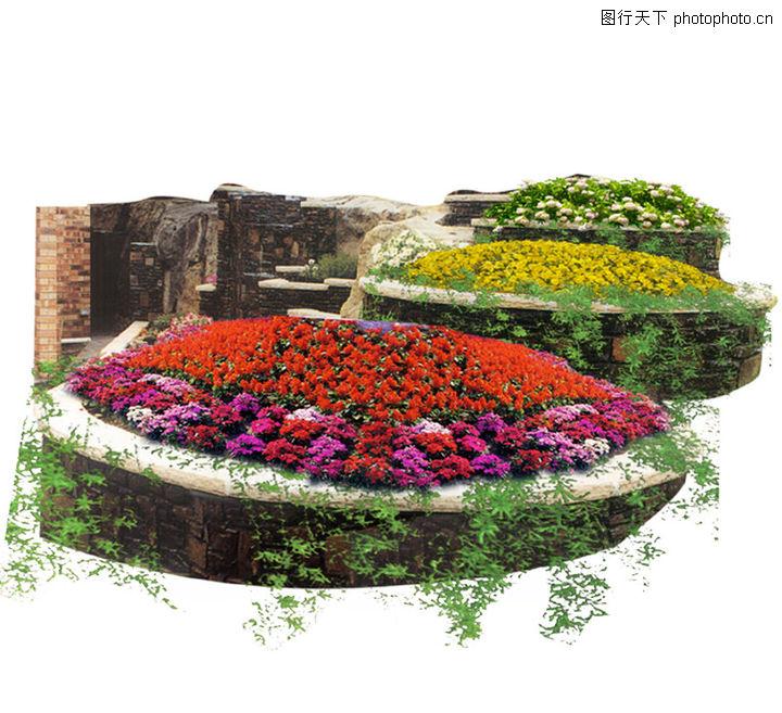 方形花坛手绘效果图