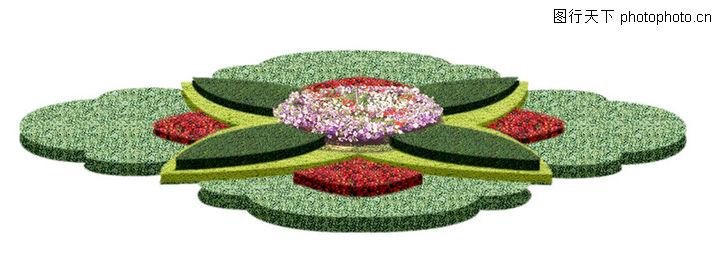 手绘长方形花坛图片