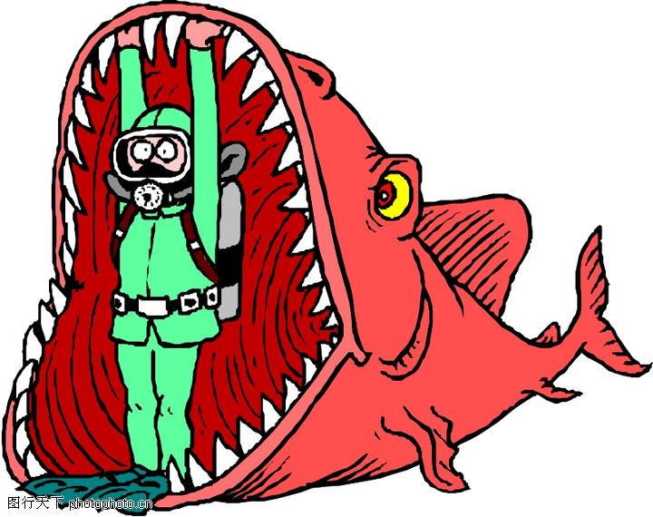 水中动物,动物,大嘴 潜水员