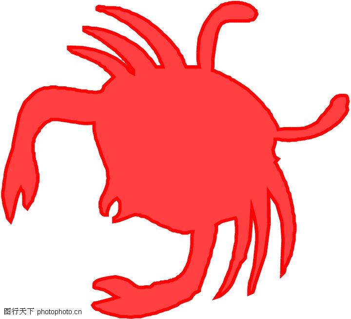 剪纸螃蟹图案步骤