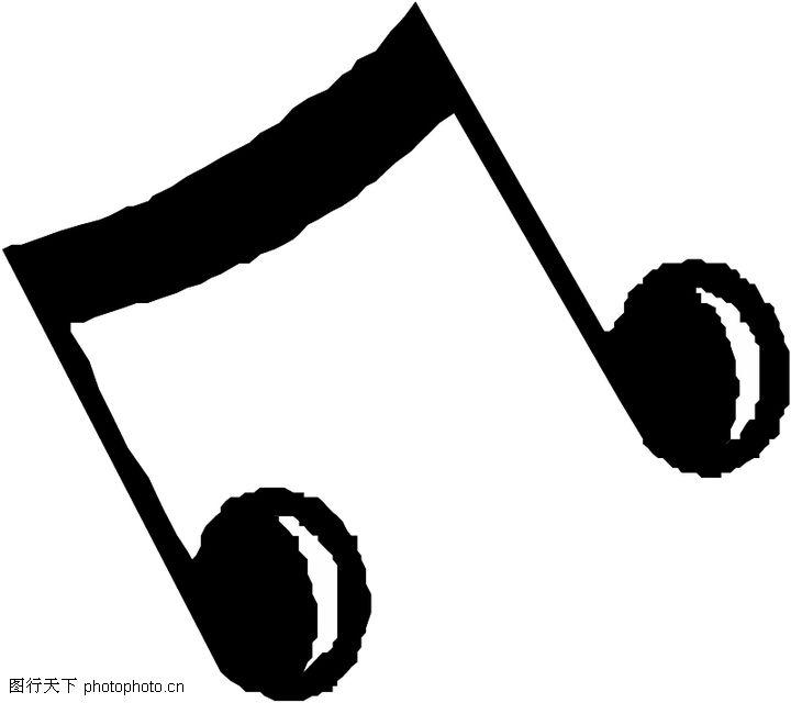 音符,音乐艺术,黑色音符,音符0072