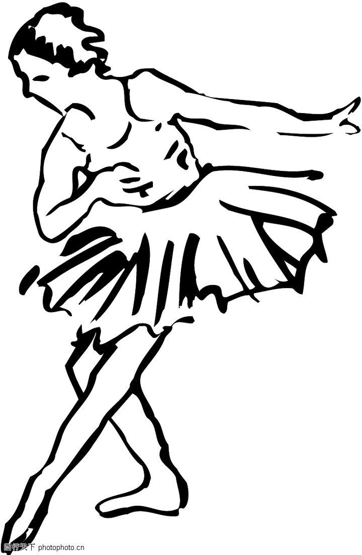 手绘简笔画舞蹈海报