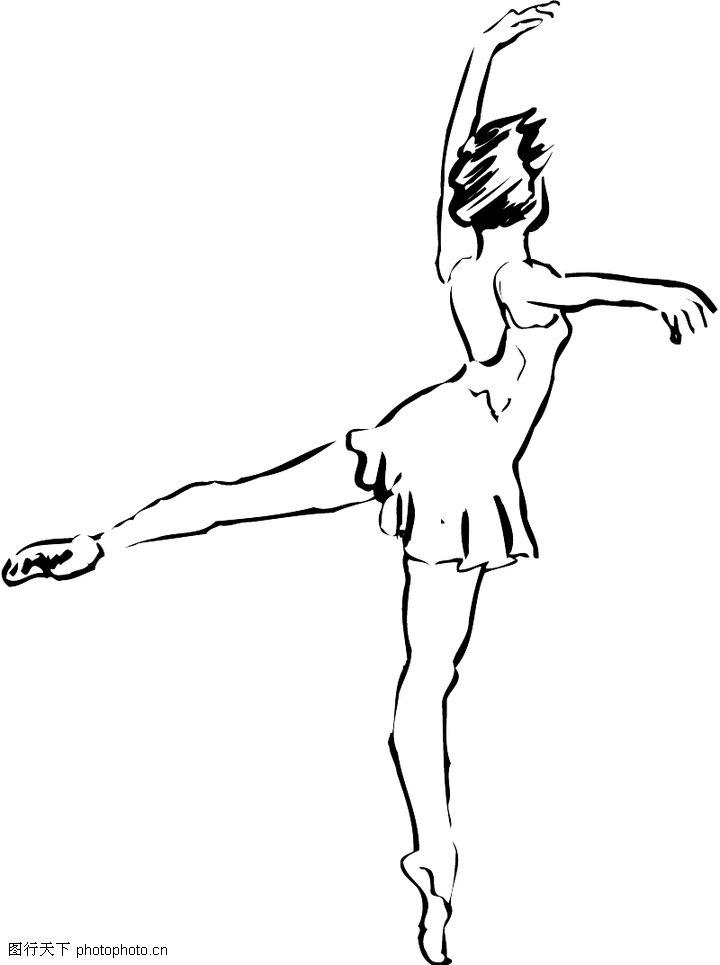 舞蹈手绘图片素材