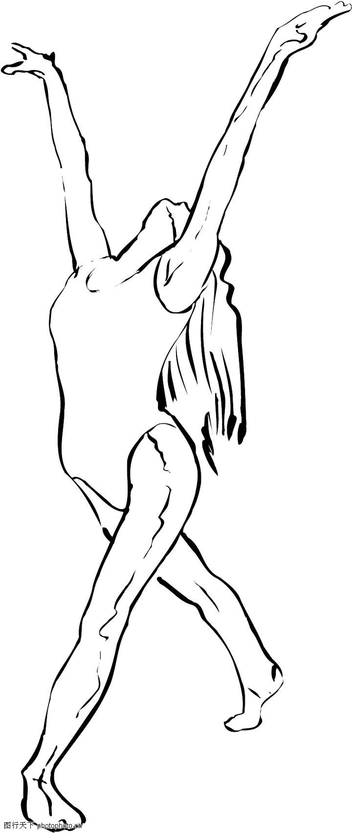 幼儿舞蹈海报手绘图