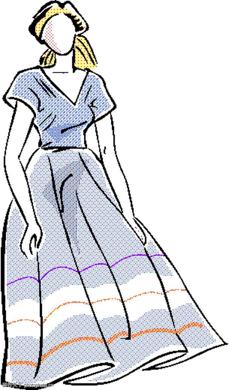 手绘图衣服格子