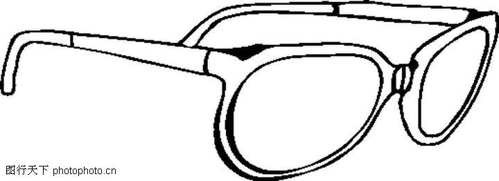服饰潮流,眼镜简笔画