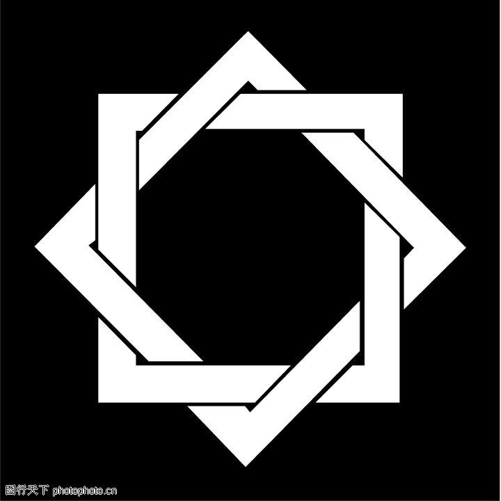 亚洲图案,标识图形,方框,亚洲图案0059