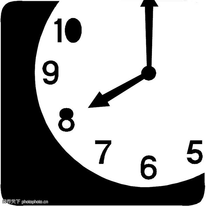 指示牌,标识图形,钟表 时间,指示牌0006