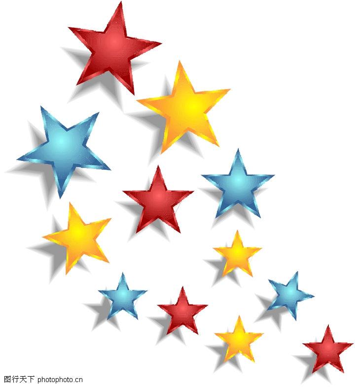 星状,标识图形,彩色星星,星状0001