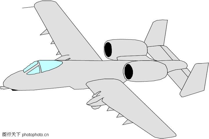 手绘飞机侧面图