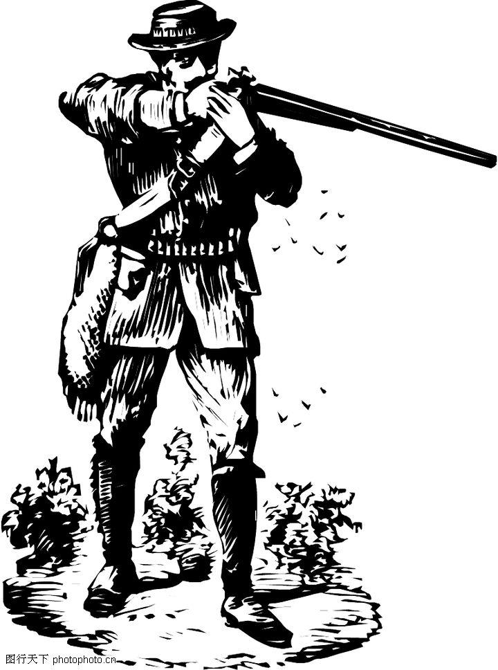 军人拿枪简笔画八路军人拿枪简笔画 中国军人敬礼简笔画 图片