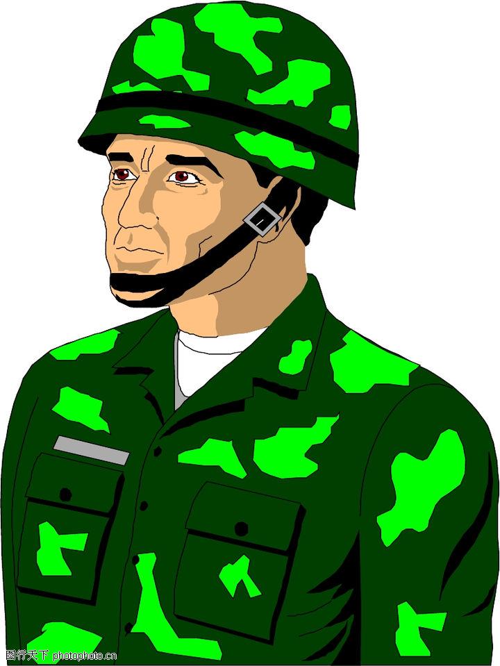 小军人卡通图片