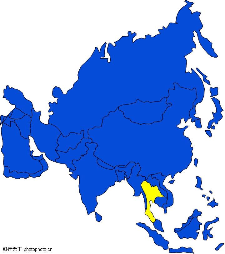 世界地图,名胜地理,亚洲版块