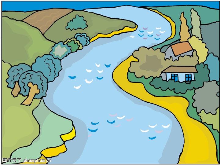 卡通山水图片大全大图