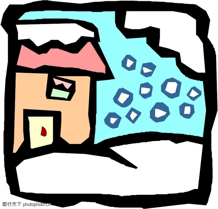 冬天0016 冬天图 季节图库 房屋 雪天