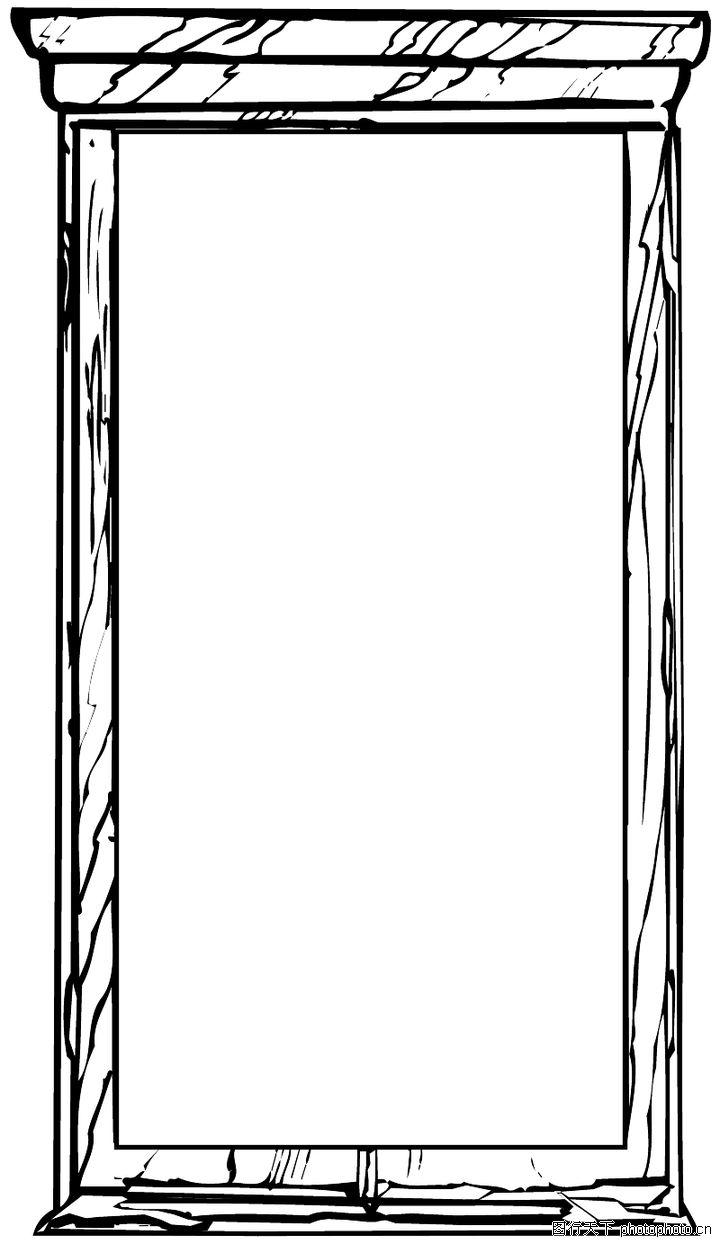 边框背景,木框