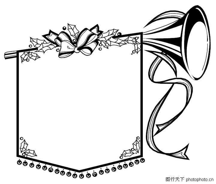创意边框0087; 精致的黑色边框 图片素材-边框相框图片素材-蚂蚁图库