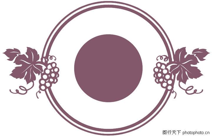 简约线条边框素材粉色