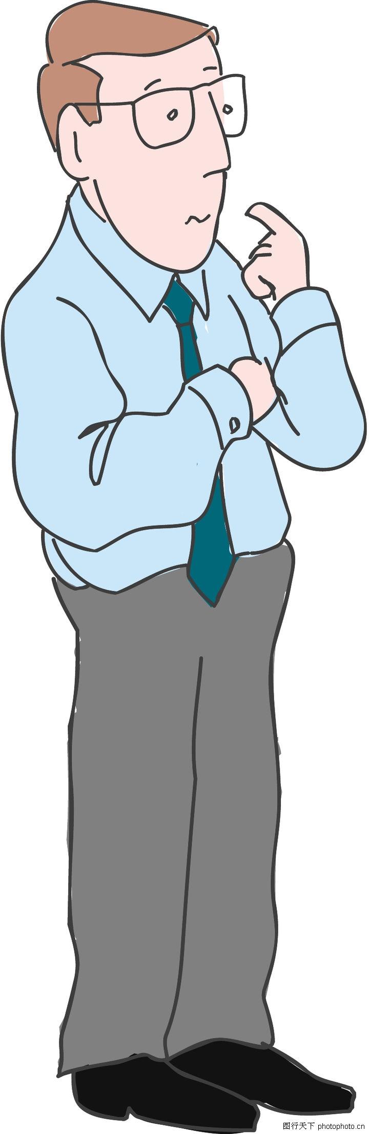 漫画卡通,中年男子