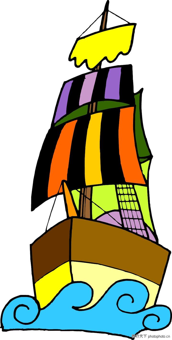 大海帆船图片简笔画 大海帆船高清图片儿童画帆船