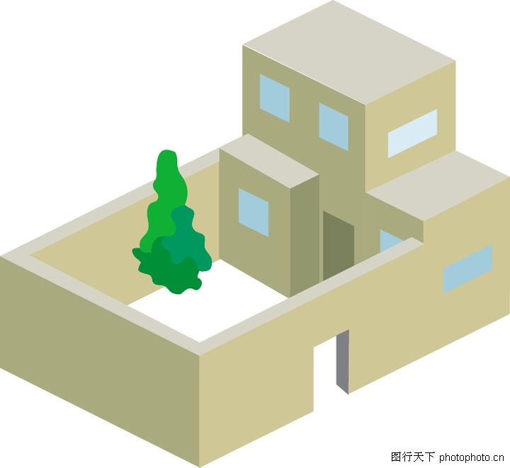 城市风景,建筑装饰,房子模型,城市风景0031
