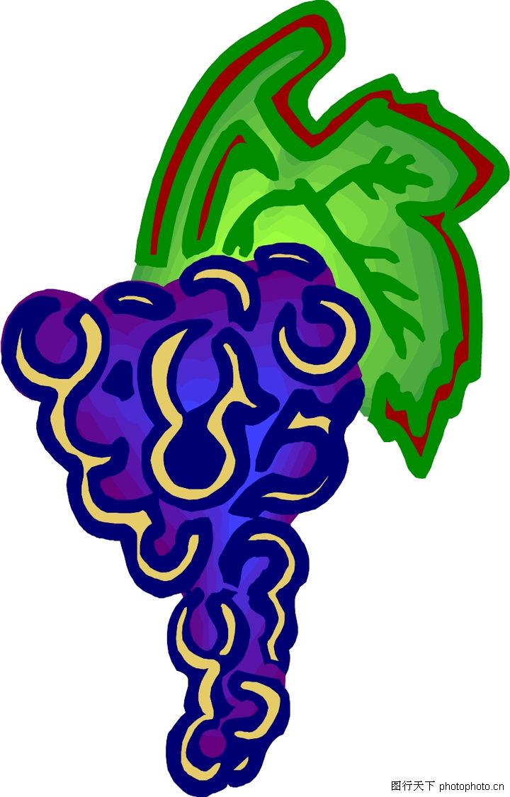 卡通植物简笔画彩色