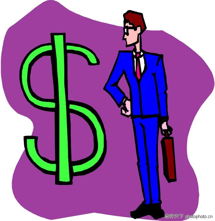 货币,金融风暴,美元符号 商业人士,货币0056