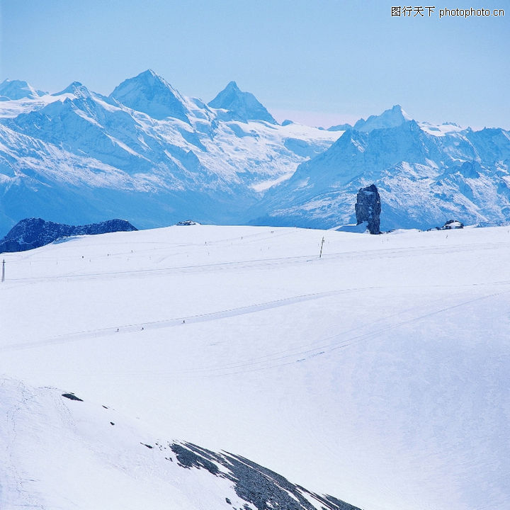 冬天雪景,自然风景,雪山 山川 下雪了,冬天雪景0291