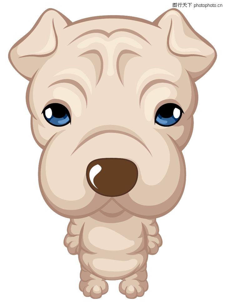 动物插图,动物,小狗 站立