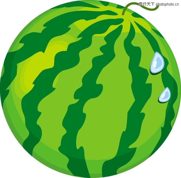 饮食水果,饮食水果,水彩画 简笔画 西瓜,饮食水果0051