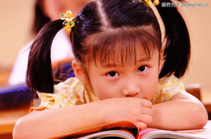 儿童教育图库 上课 听讲 坐姿
