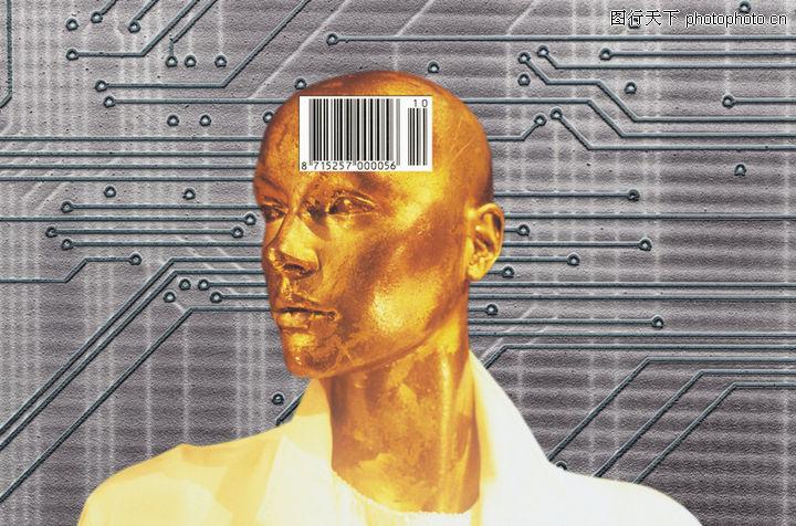 科技畅想,未来科技,机器人 大脑 电路,科技畅想0099