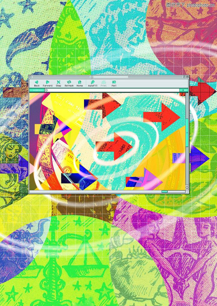 网路商机,未来科技,流向 指示 工具框 程序 电脑屏幕,网路商机0004