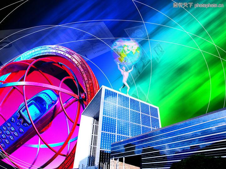 网路商机,未来科技,楼房 手机 通信,网路商机0021