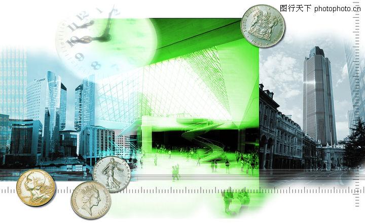 网路商机,未来科技,硬币 美分 建筑,网路商机0024