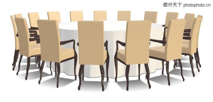 家具模型,装饰,圆桌 餐桌 饭店酒桌,家具模型0037