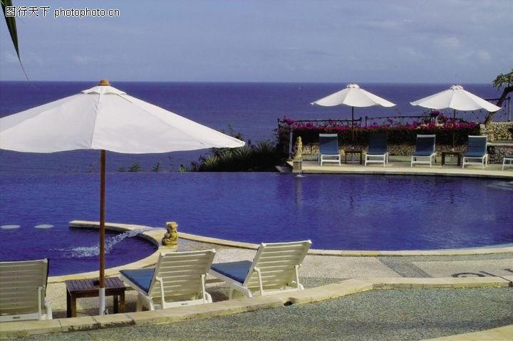 醉心巴厘岛spa,休闲保健,白色 遮阳伞 海湾,醉心巴厘岛spa0017