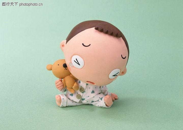 快乐家庭,休闲生活,愁眉苦脸 大头娃娃 玩具熊,快乐家庭0014