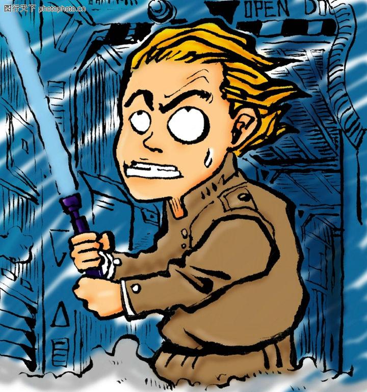 趣味插画,标题插画,日本 皇军 军刀,趣味插画0079