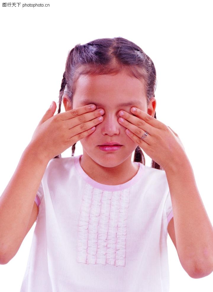 时尚儿童,亲子教育,捂眼睛 思考 服装,时尚儿童0098