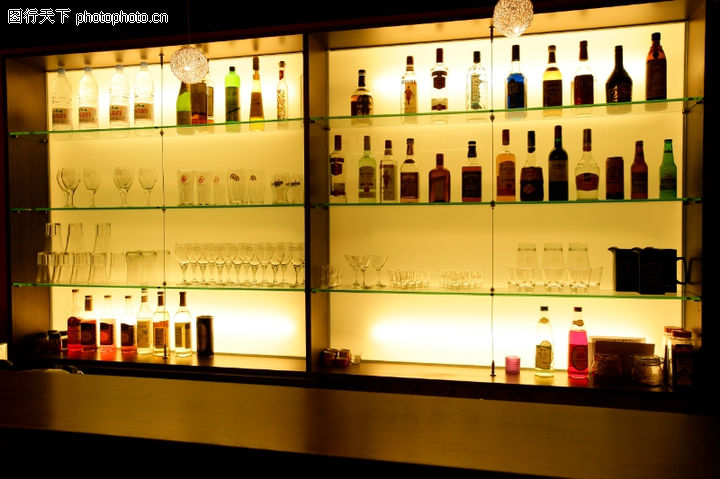 餐饮空间,美食,酒吧 酒瓶