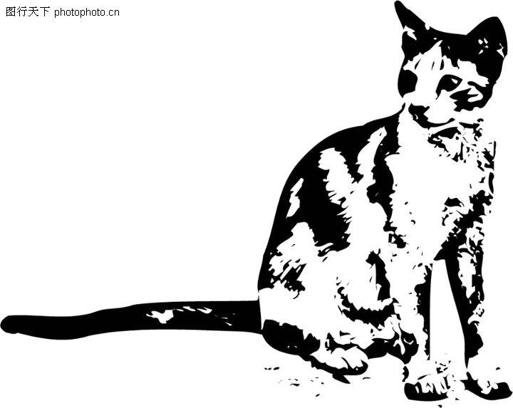 简单可爱的小猫剪纸