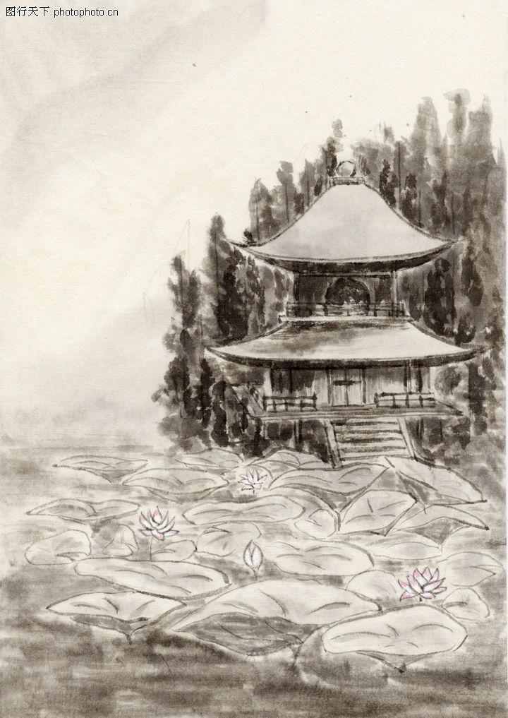 古代风景,中华文化,亭子,古代风景0047