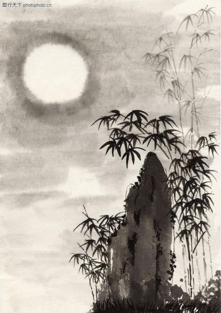 古代风景,中华文化,竹子,古代风景0050