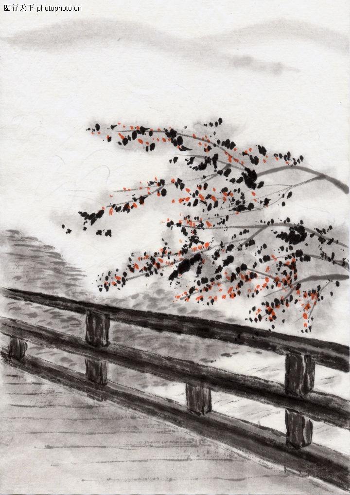 古代风景0081 古代风景图 中华文化图库 花草 风景 文化图片