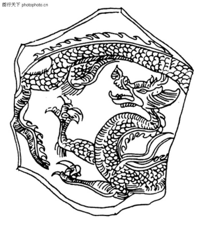 龙纹,中华文化,龙纹0054